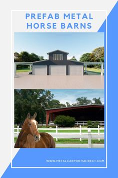 If you're looking to build a metal barn? Metal Carports Direct offers a wide range of metal barns, metal horse barns, agriculture building with best in the industry customization options. A metal barn is a great option for a farmer in need of a building. Get FREE delivery and FREE installation!.  Get a custom quote today: (844)337-4137 #metalhorsebarns #metalgarages #metalcarports Metal Barn Kits, Metal Horse Barns, Metal Carports, Metal Garages, Prefab Metal Buildings, Rv Shelter, Steel Barns, Custom Metal, Agriculture