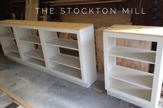 white and natural wood bookcase Custom Bookshelves, Bookcases, Wood Book, Natural Wood, Quote, Organization, Space, Wall, Room