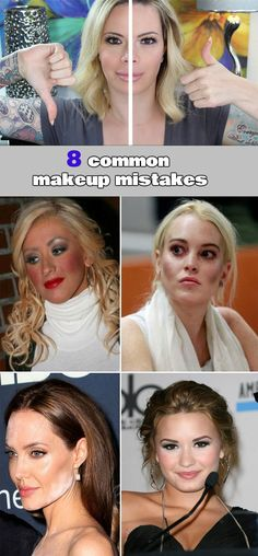 8 common makeup mistakes - WomenIdeas.net