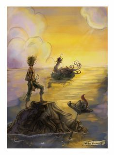 Peter Pan was too tired to fly so he gave the kite to Wendy to save her life. Then comes the Never bird....