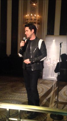 """While in New York for the Jersey Boys screening, John Lloyd Young made a surprise appearance at the Waldorf-Astoria singing """"Can't Take My Eyes Off of You."""" Awesome!"""