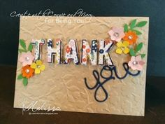 Stampin' Up! For Being You by Melissa Davies @rubberfunatics - Create with Connie and Mary Saturday Blog Hop #rubberfunatics #stampinup