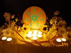 Faery star altar very  simple and cute for our indoor altar