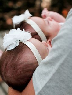 sweet photo of twin girls