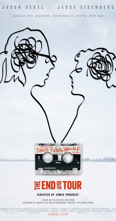 Directed by James Ponsoldt.  With Jason Segel, Jesse Eisenberg, Anna Chlumsky, Mamie Gummer. The story of the five-day interview between Rolling Stone reporter David Lipsky and acclaimed novelist David Foster Wallace, which took place right after the 1996 publication of Wallace's groundbreaking epic novel, 'Infinite Jest.'