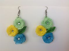 Quilled earrings roses
