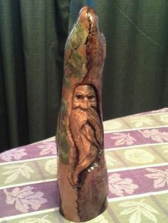 Hand Carved Cypress Knee, Ooak, Wood Spirit