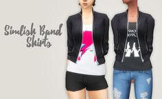 Simlish Band | Clothes | Jacket | Cookiemonstesims via Tumblr | Sims 4 | TS4 I Maxis Match | MM | CC
