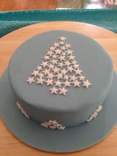 Blue Xmas cake