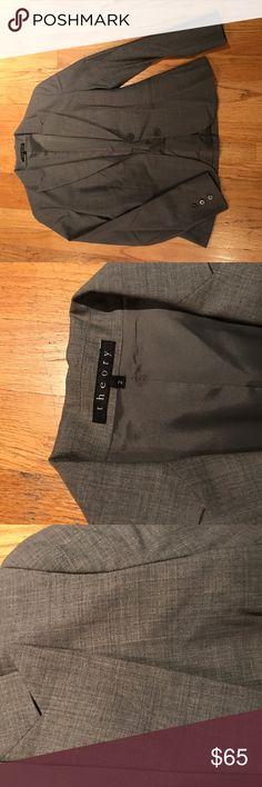 Charcoal grey Theory Gabe stretch wool blazer Charcoal grey Theory Gabe stretch wool blazer. 2 button. Classic blazer. Excellent condition. Theory Jackets & Coats Blazers