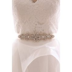 Sparkle up your Wedding Day with this splendid Rhinestone appliqué, with beaded detailing.