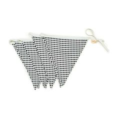 Black and White Bunting Flag Banner – Bonjour Baby Baskets - Luxury Baby Gifts