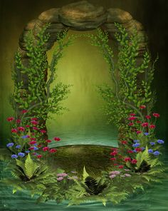 Island 5 by ~collect-and-creat on deviantART [backgrounds for ideas, BOS pages… Pretty Backgrounds, Photo Backgrounds, Wallpaper Backgrounds, Background Pictures, Art Background, Fantasy Landscape, Fantasy Art, Foto Montages, Castle Mural