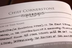 Name of Christ: Chief Cornerstone - The Red Headed Hostess