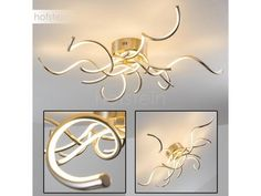 Scugog Lampa sufitowa LED Nikiel matowy, 6-punktowe - Design - Obszar wewnętrzny -  - Czas dostawy: od 2-4 dni roboczych