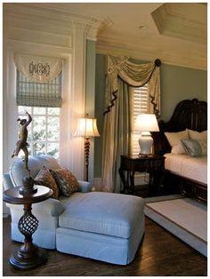 Kandrac & Kole | Gallery---monogrammed window treatment