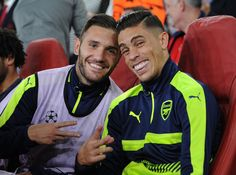Lucas Perez and Gabriel Paulista @TheArsenal vs. #FCBasel#AFC #COYG #Gooners #Gunners #AFCvBAS #UCL