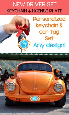 New TEEN DRIVER Set! Personalized #Keychain & Car Tag License #Plate Lot Grad Gift Birthday Sweet 16 by iselltshirts (https://www.etsy.com/listing/192827965/new-teen-driver-set-personalized?ref=shop_home_active_2)