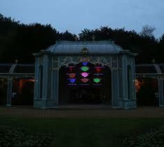 UV Gear acrylic ultra violet speech bubbles for Winter Light installation by Bruce Munro at Waddesdon Manor
