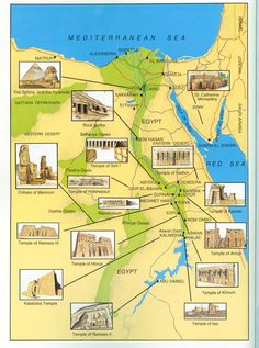 Map of Ancient Egypt So so hoping I'll masj it to Egypt one day. Always been at the top of my list