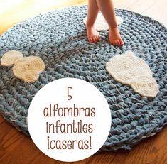 5 alfombras infantiles ¡caseras! 5 alfombras infantiles ¡caseras! Os presentamos alfombras infantiles que podéis hacer en casa para decorar la habitación infantil.