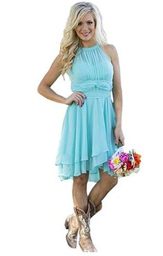 9a267faf8f7d Meledy Women's Knee Length Country Bridesmaid Dress Western Wedding Guest  Dress at Amazon Women's Clothing store: