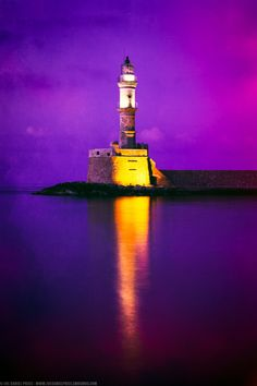 Hania Lighthouse, Crete, Greece. It's amazing how something so simple can be so absolutely beautiful