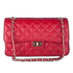 Marlafiji Bianca Red Quilted Italian  leather handbag  FREE SHIPPING WITHIN AUSTRALIA www.marlafiji.com