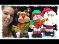 Decoración Navideña - Colgantes Santa- Muñequeria navideña - YouTube Christmas Crafts, Christmas Decorations, Christmas Ornaments, Holiday Decor, Gnome, Felt Ornaments, Crochet Dolls, Vinyl Figures, Mini