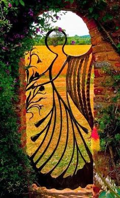 Angel gate. ( i did not make this).  I thought this was quite beautiful.