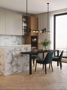 Kitchen Room Design, Kitchen Cabinet Colors, Modern Kitchen Design, Living Room Kitchen, Home Decor Kitchen, Interior Design Kitchen, Kitchen Furniture, Scandinavian Kitchen, Küchen Design
