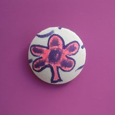 5 Petal Flower Spirited Art, Brooch, Buttons, Flower, Creative, Artist, Fabric, Handmade, Tejido