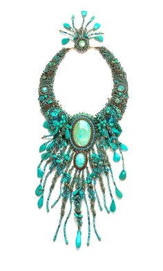 Single-Strand Necklace with Turquoise Gemstone Beads and Seed Beads - Fire Mountain Gems and Beads