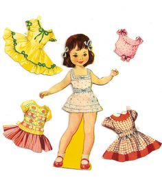 1950s Paper Doll