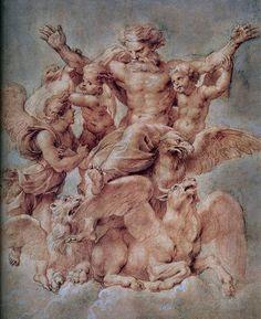 Vision of Ezekiel : Peter Paul Rubens : Baroque : religious painting - Oil Painting Reproductions Peter Paul Rubens, Figure Drawing, Painting & Drawing, Renaissance Kunst, Classic Paintings, Oil Painting Reproductions, Caravaggio, Renoir, Art Design
