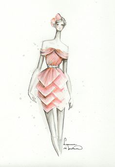 fashion illustration by Leanne Marshall