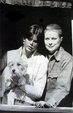 Princess Grace, with Princess Stephanie