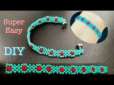 Seed Bead Bracelets Diy, Beaded Bracelets Tutorial, Beaded Bracelet Patterns, Woven Bracelets, Seed Bead Patterns, Beading Patterns, Bead Jewellery, Beaded Jewelry, Right Angle Weave