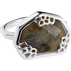 Neola 18 Carat Gold Plated Labradorite Ring