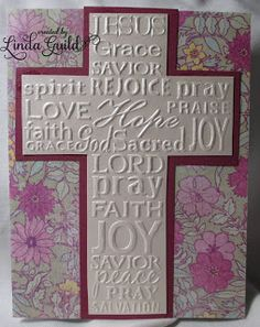Nothin' Fancy--Darice Cross with Script embossing folder