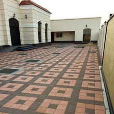 Driveway Paving, Driveway Design, Brick Paving, Concrete Bricks, Paving Stones, Garden Tiles, Brick Garden, Garden Floor, 20x40 House Plans