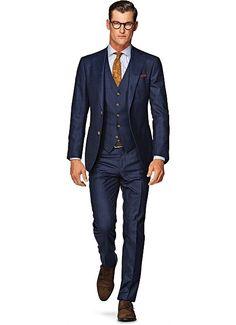 Suit Blue Check Hudson 3p Suitsupply Winter 2014
