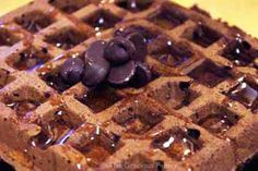 Clean Eating Brownie Waffles  1 1/2 cups whole wheat pastry flour  1/2 cup cocoa powder  1 tablespoon baking powder  1 teaspoon cinnamon  1/4 teaspoon salt  1/4 cup wheat germ (I used raw wheat germ, but any kind will work)  1 3/4 cups unsweetened soy milk (you can also use non-fat or low-fat milk)  2 ripe bananas  2 whole eggs  2 tablespoons safflower oil  1 teaspoon vanilla extract