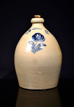 Antique Ovoid Stoneware Jug by Lyons Pottery by BryleighsBasement on Etsy https://www.etsy.com/listing/203658503/antique-ovoid-stoneware-jug-by-lyons