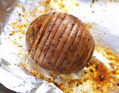 Hasselback Potatoes on the Grill - multiple variations I Love Food, Good Food, Yummy Food, Delicious Meals, Real Food Recipes, Cooking Recipes, Grilling Recipes, Grilling Ideas, Hasselback Potatoes