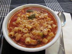 This is a great hearty Italian dish your Family will love, easy & inexpensive for those who want a great meal but don't have a lot of time.    Rich Red Sauce broth, with Italian Herbs,  Sauteed Zucchini in Olive Oil,  Ditalini Pasta,  White Beans, &  Aged Romano Cheese