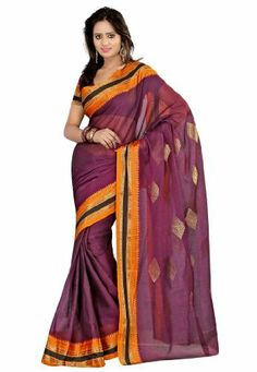 Fabdeal Indian Designer Cotton Purple Plain Saree Fabdeal, http://www.amazon.de/dp/B00INWMS20/ref=cm_sw_r_pi_dp_ig7otb04C6BWE