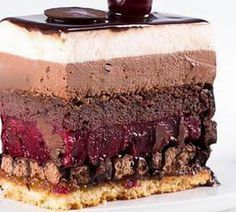"Пляцок""Шварцвальдский"" Russian Cakes, Cake Fillings, Bakery Cakes, Pastry Cake, International Recipes, Coffee Cake, Relleno, No Bake Cake, Cake Recipes"