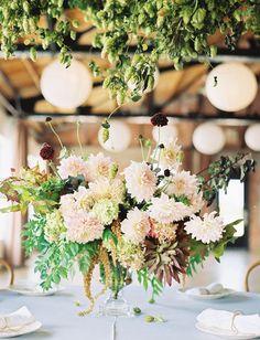 dahlia flower centerpiece