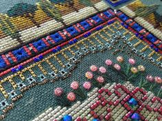 Tuscany Town Mandala by helen_orlova, via Flickr.  A Chatelaine design stitched by Helen Orlova - the fine details are amazing.